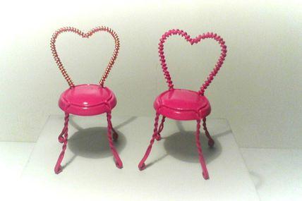 """Chaises en """"Muselets"""" saint Valentin"""