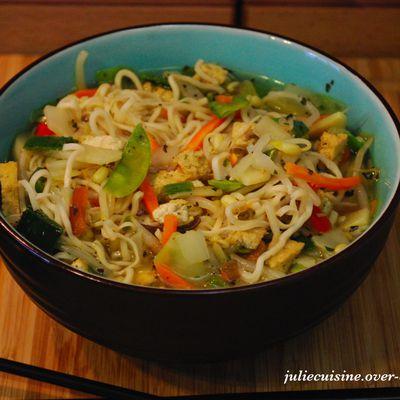 Soupe aux nouilles chinoises (végé)