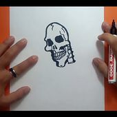 Como dibujar una calavera paso a paso 14   How to draw a skull 14