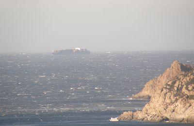 Fort coup de vent de nord ouest en mer