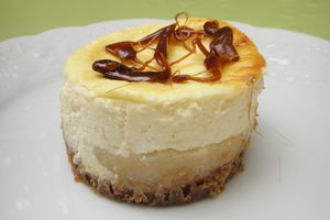 Cheesecake poires-caramel