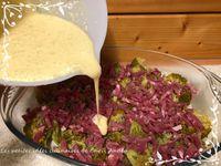 Clafoutis de brocoli, bacon & Reblochon