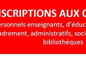 Inscriptions aux concours de l'Education nationale !