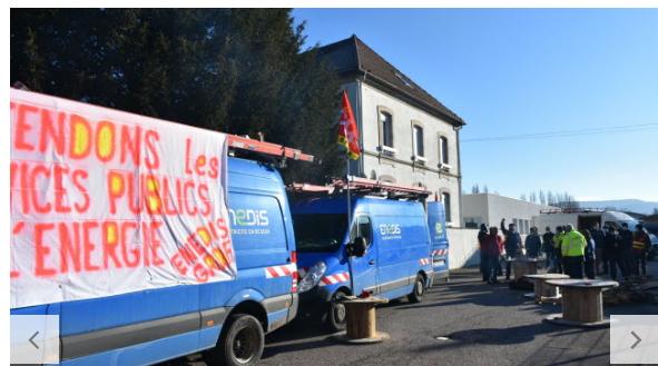 VOSGES : Le site Enedis de Remiremont bloqué par la CGT