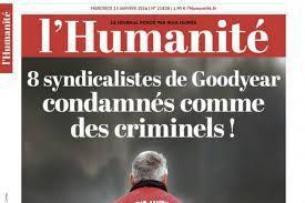 Goodyear : Non à la criminalisation de l'action syndicale !!!