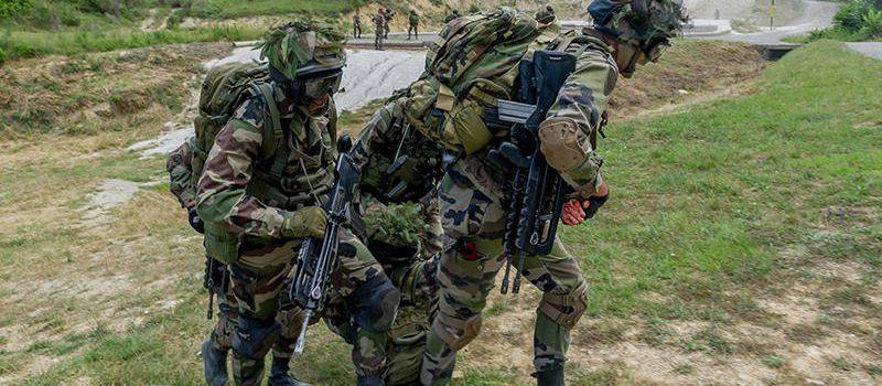 Le 3e régiment de parachutistes d'infanterie de Marine.
