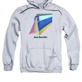 Anchorite -text Adult Pull-Over Hoodie for Sale by Michael Bellon