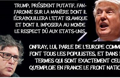 Michel Onfray, Trump philosophe