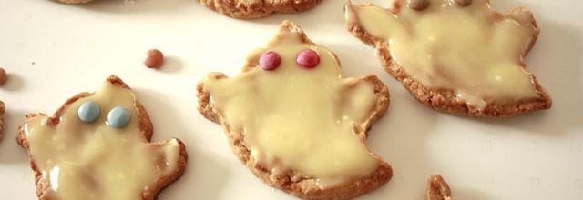 Les cookies fantômes  d'halloween !!