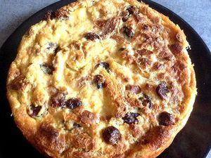 Pudding aux cranberrys et chocolat blanc