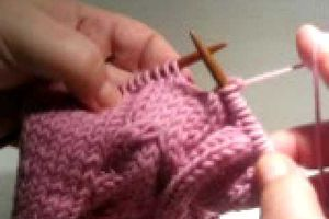 Knitting cables without a cable needle