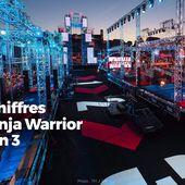 Les chiffres de Ninja Warrior saison 3 #NinjaWarrior - SANSURE.FR