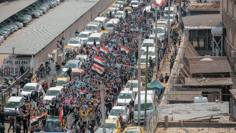 Quelques images de la protestation en Irak (Baghdad)