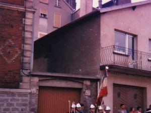 Sainte-Barbe des Sapeurs-Pompiers à Algrange en 1987