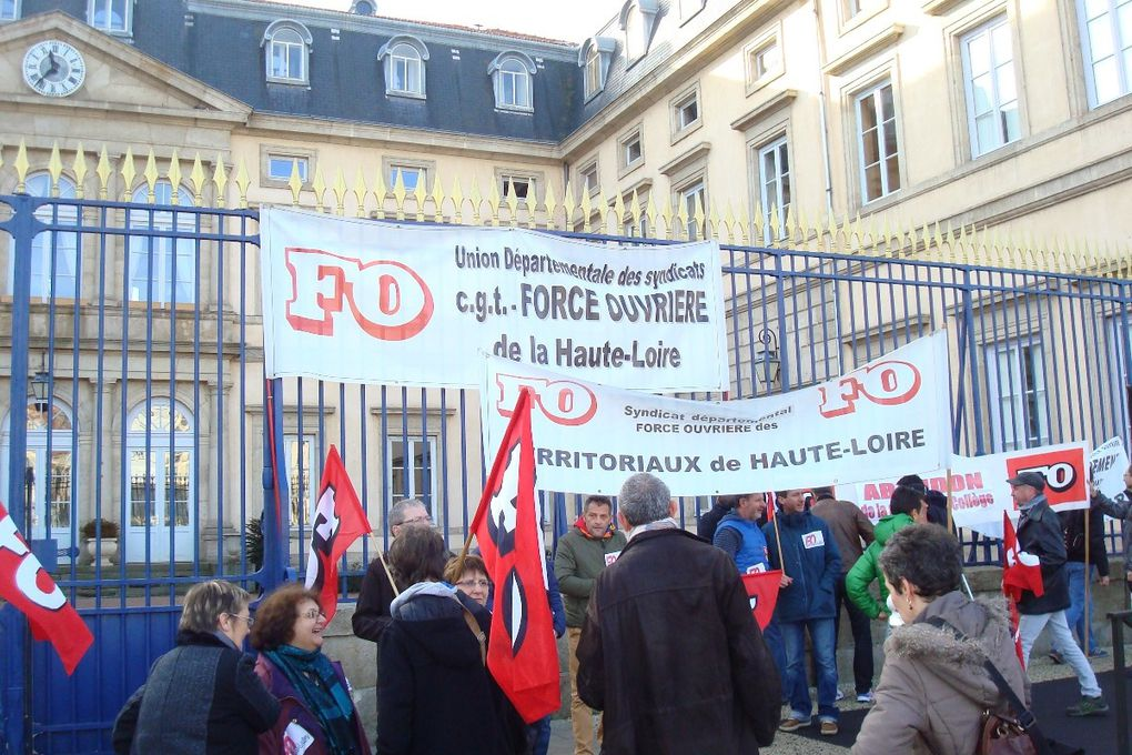Grève du 26 janvier: 600 manifestants au Puy en Velay