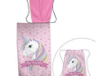 Serviette de plage + sac de bain Licorne