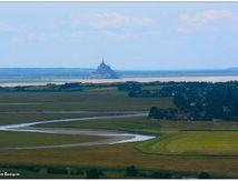 Le Mont Saint-Michel depuis Avranches...