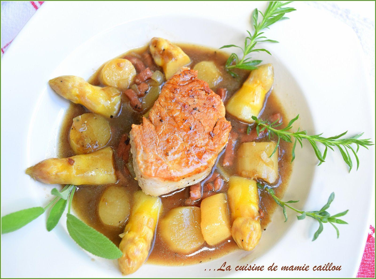 Arperges en sauce madère ou sauce d'asperges au madère ...c'est à vous de voir !