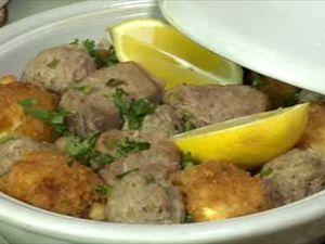 Menu Samira tv, Algérie - Salade de riz au mascarpone + Pain turc + Mtouwem labiad bel batata + Halwet Zqoqo