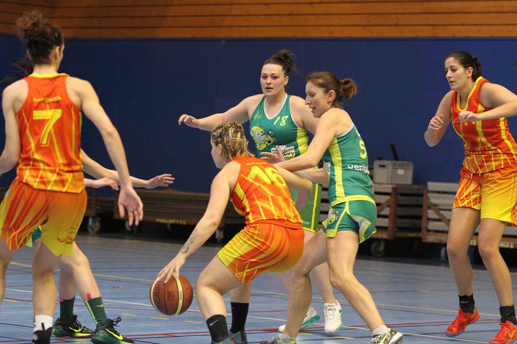 L'ALVP basket féminin était ce dimanche trop handicapée par les absences de 3 de ses titulaires