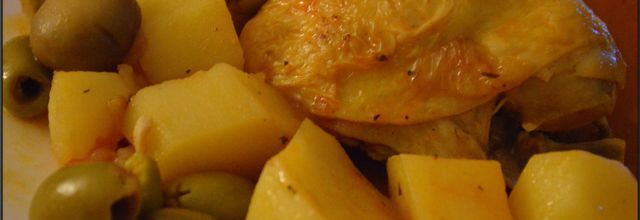 Tajines de poulet aux olives