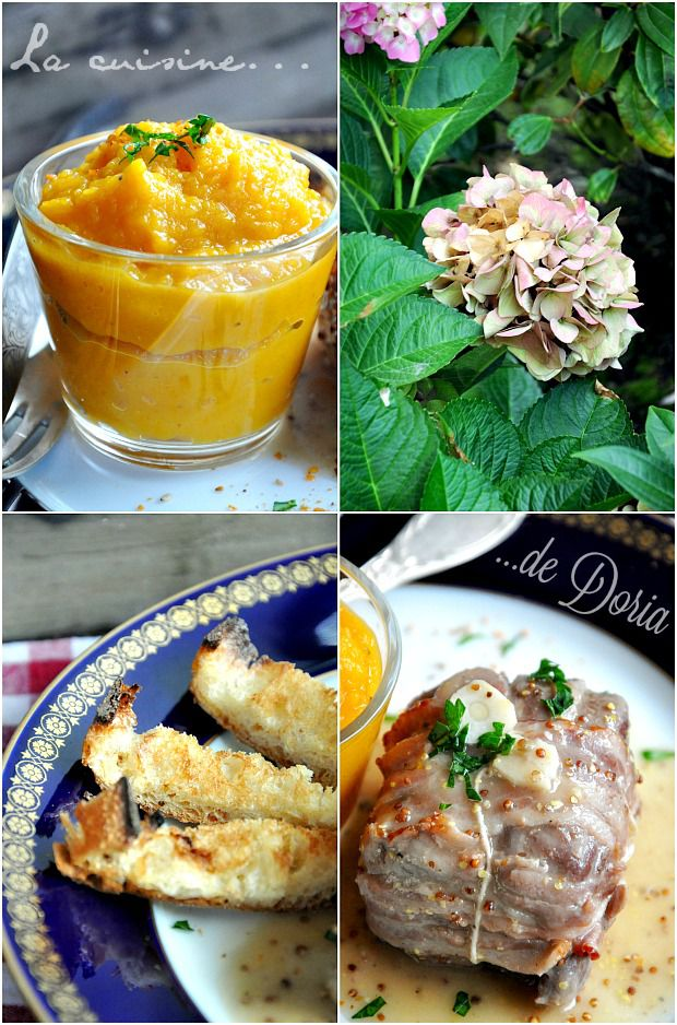 Paupiettes de veau à la moutarde de Meaux et purée de butternut