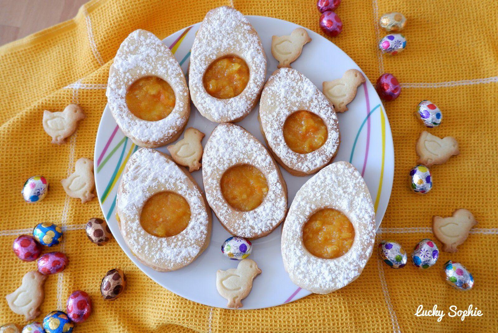 Sablés oeufs de Pâques à la confiture