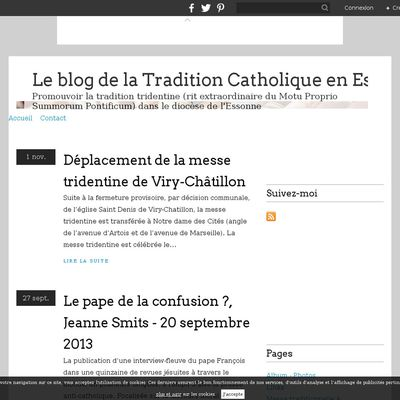 Le blog de la Tradition Catholique en Essonne