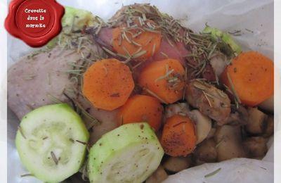 Papillotes de poulet aux légumes