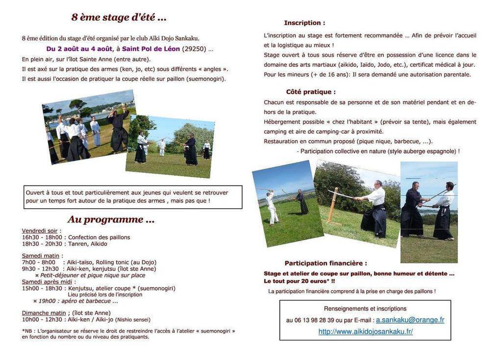 Télécharger le programme et l'affiche du 8ème stage d'été (2019)