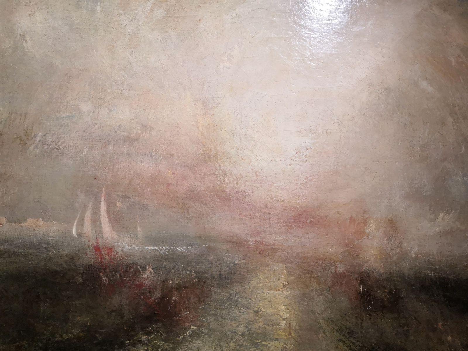 Yacht approchant de la côte, Vers 1840-1845, Huile sur toile, Tate