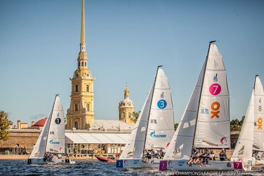 in St. Petersburg Berliner Yacht-Club wins act 1 of the Sailing Champions League