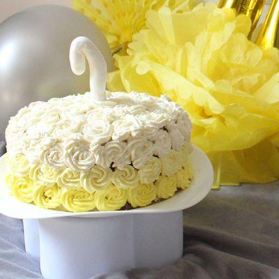 Rose cake coco-ananas -pour un anniversaire- - Thermomix -