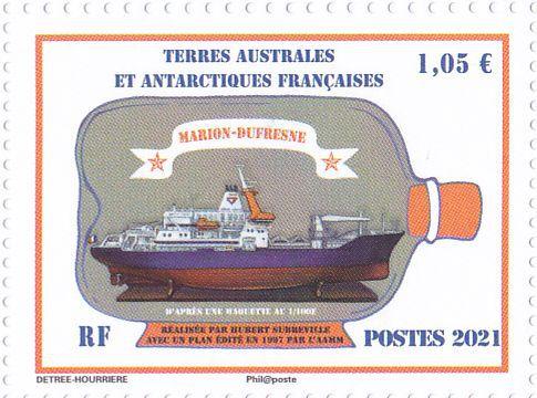 Le timbre définitif, le Bon à tirer, la zone recouverte de vernis, la feuille de 25 timbres.