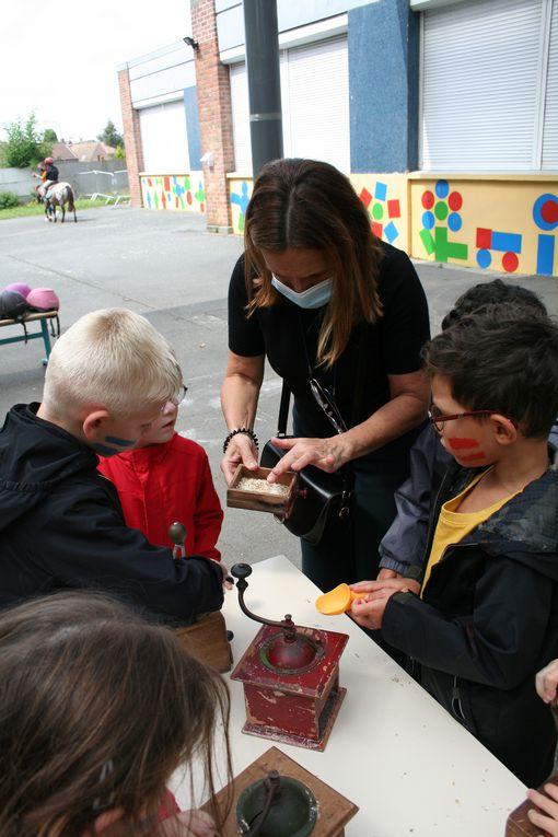 Mardi 3 Août 2021. L'association SHET 59 est venue à la rencontre des enfants du centre Camus pour une petite balade à Shetland. Ils ont fait la connaissance de Cachou, Capucine et Uliana.