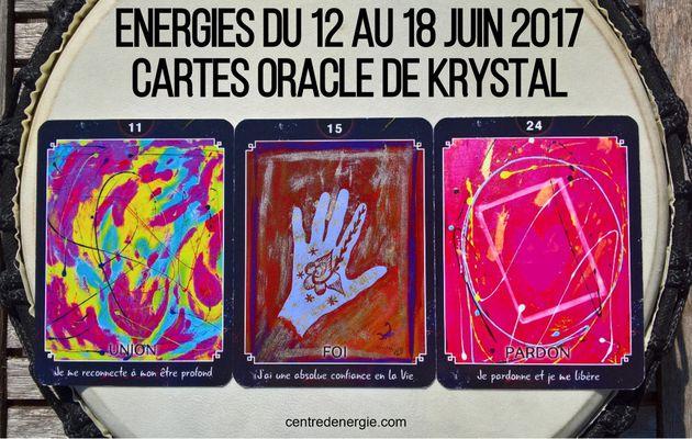 Energies du 12 au 18 juin 2017 Cartes Oracle de Krystal