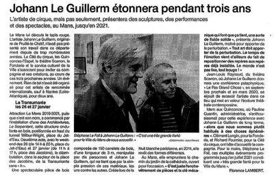 """""""Attraction Le Mans"""" : Le projet artistique de Johann Le Guillerm"""