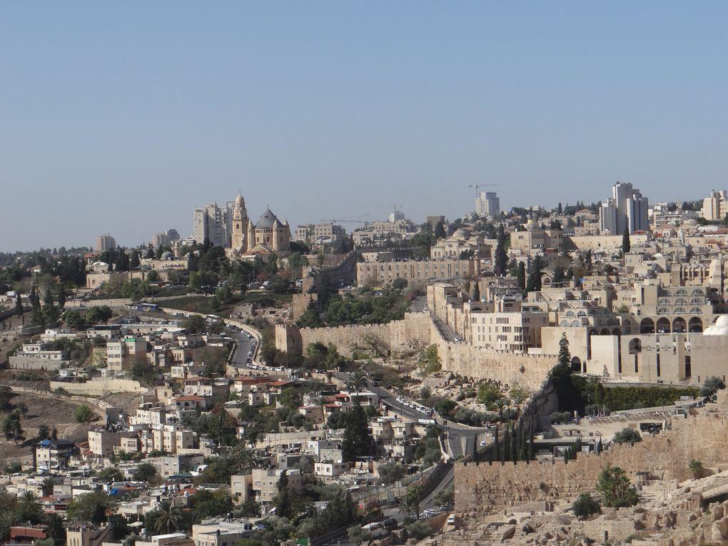 Vue de Jérusalem (photos NB Israël oct. 2018)