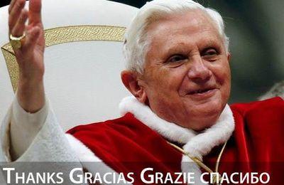 Merci Benoît XVI