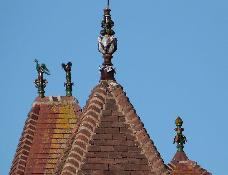 Poteries sur les toits à Houlgate