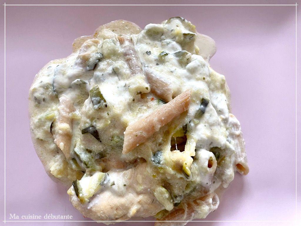 Courgettes et son poulet à sa sauce Boursin avec cookeo