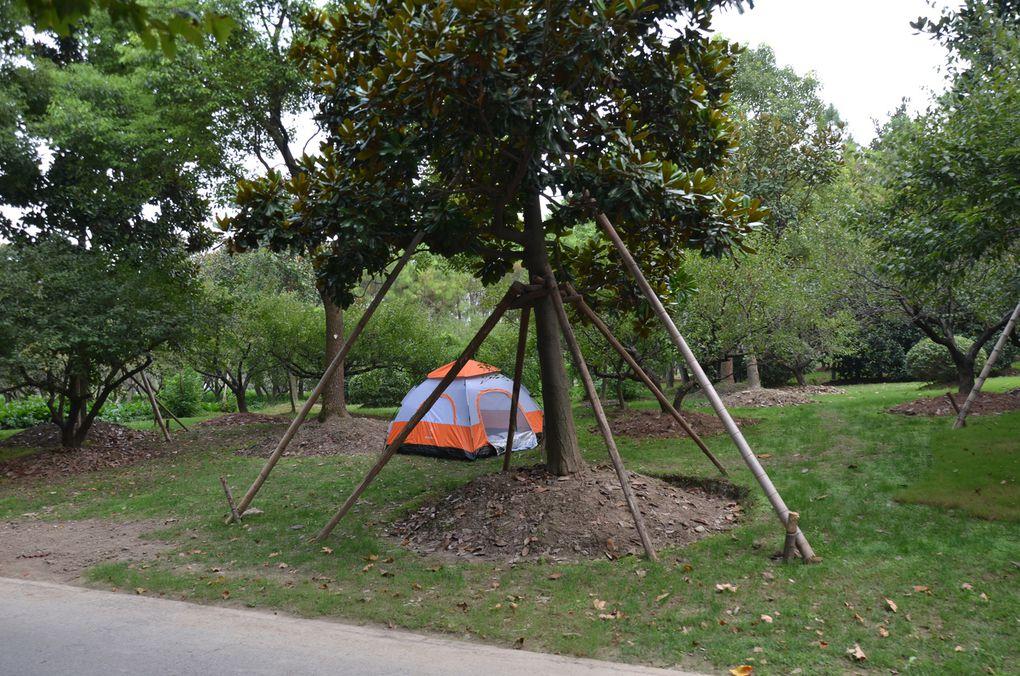 Dans les parcs, on vient aussi dormir et à certains moments, ils ont plus un air de camping...
