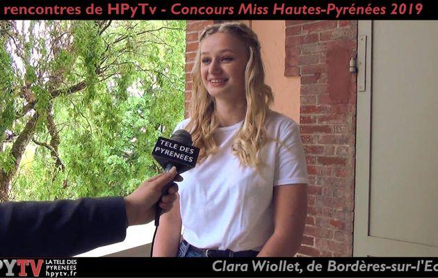 Les Rencontres de HPyTv : Clara Wiollet, candidate Miss Hautes-Pyrénées (Mai 2019)