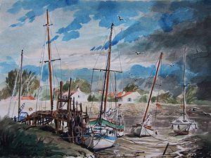 Vues de l'île de Noirmoutier Aquarelle sur papier Divers formats  Bhavsar