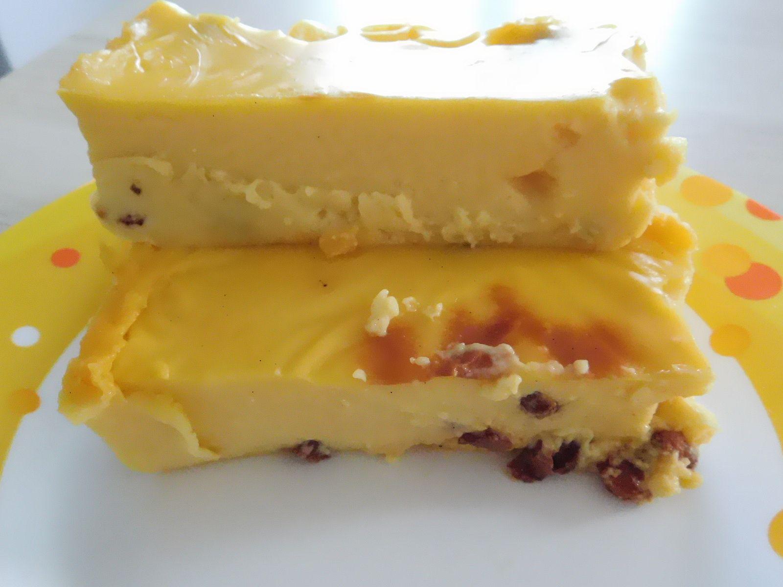 Flan à la vanille au raisins et rhum