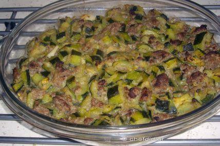 """Courgettes et boeuf haché façon """"grenadine"""" (cuisine légère)"""
