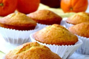 muffins à l'orange coeur au nutella
