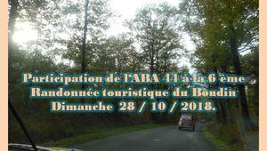 Participation de l'ABA 44 à la 6 ème Randonnée touristique du Boudin de dimanche 28 10 18.