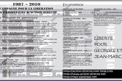 Action directe - Bordeaux, Fresnes, Toulouse - Rassemblement pour Cipriani et Rouillan