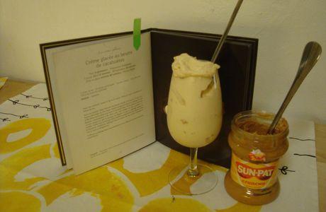 Crème glacée au beurre de cacahuète